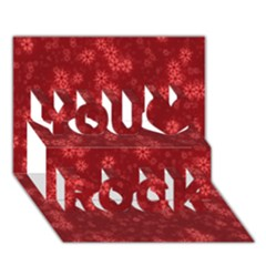Snow Stars Red You Rock 3d Greeting Card (7x5)