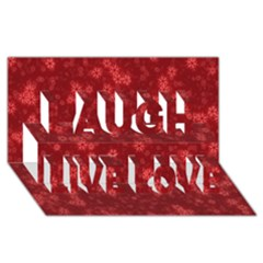 Snow Stars Red Laugh Live Love 3d Greeting Card (8x4)