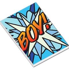 Comic Book Boy!  Large Memo Pads