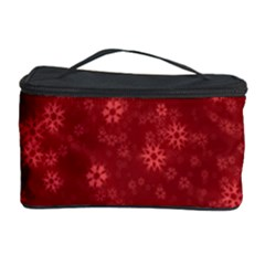 Snow Stars Red Cosmetic Storage Cases