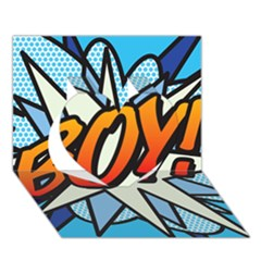 Comic Book Boy!  Heart 3D Greeting Card (7x5)