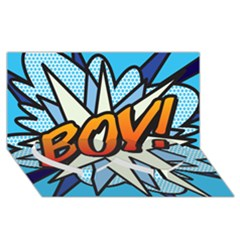 Comic Book Boy!  Twin Heart Bottom 3D Greeting Card (8x4)