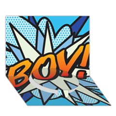 Comic Book Boy!  Circle Bottom 3D Greeting Card (7x5)