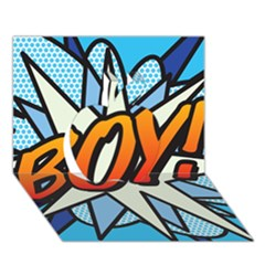 Comic Book Boy!  Apple 3d Greeting Card (7x5)