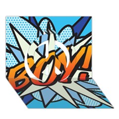 Comic Book Boy!  Peace Sign 3D Greeting Card (7x5)