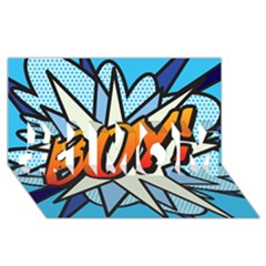 Comic Book Boy!  #1 Mom 3d Greeting Cards (8x4)