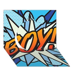 Comic Book Boy!  Circle 3d Greeting Card (7x5)