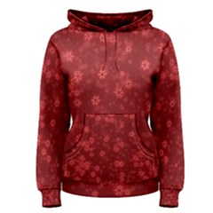 Snow Stars Red Women s Pullover Hoodies