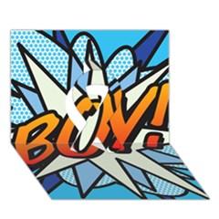 Comic Book Boy!  Ribbon 3D Greeting Card (7x5)