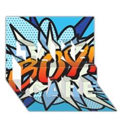 Comic Book Boy!  TAKE CARE 3D Greeting Card (7x5)