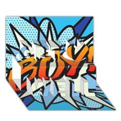 Comic Book Boy!  Get Well 3D Greeting Card (7x5)