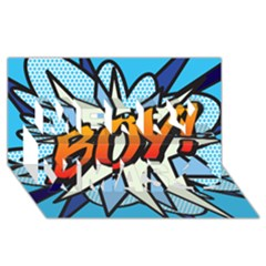 Comic Book Boy!  Merry Xmas 3D Greeting Card (8x4)
