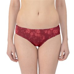 Snow Stars Red Hipster Bikini Bottoms