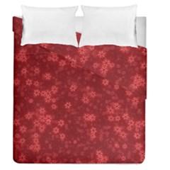 Snow Stars Red Duvet Cover (full/queen Size)