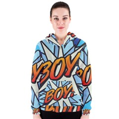 Comic Book Boy!  Women s Zipper Hoodies