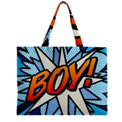 Comic Book Boy!  Zipper Tiny Tote Bags