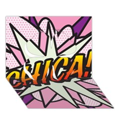 Comic Book Chica!  Clover 3d Greeting Card (7x5)