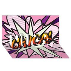 Comic Book Chica!  HUGS 3D Greeting Card (8x4)