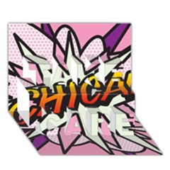 Comic Book Chica!  Take Care 3d Greeting Card (7x5)