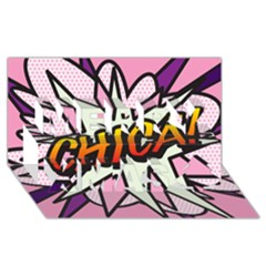 Comic Book Chica!  Merry Xmas 3d Greeting Card (8x4)