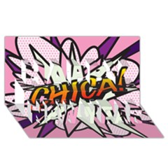 Comic Book Chica!  Happy New Year 3D Greeting Card (8x4)