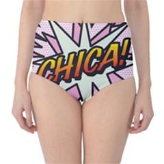 Comic Book Chica!  High-Waist Bikini Bottoms