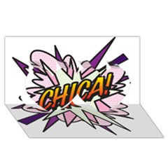 Comic Book Chica! Twin Hearts 3D Greeting Card (8x4)