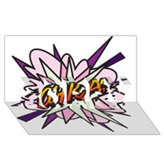 Comic Book Chica! SORRY 3D Greeting Card (8x4)