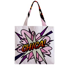 Comic Book Chica! Zipper Grocery Tote Bags