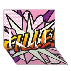 Comic Book Fille! I Love You 3D Greeting Card (7x5)