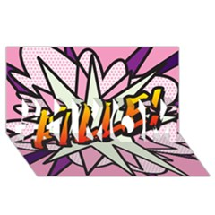 Comic Book Fille! #1 MOM 3D Greeting Cards (8x4)