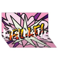 Comic Book Fille! Believe 3d Greeting Card (8x4)