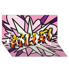 Comic Book Fille! Sorry 3d Greeting Card (8x4)