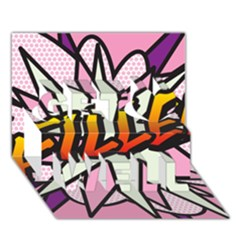 Comic Book Fille! Get Well 3D Greeting Card (7x5)