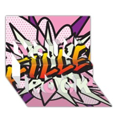Comic Book Fille! You Rock 3d Greeting Card (7x5)