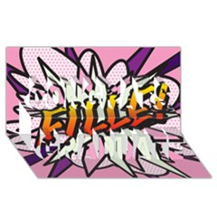 Comic Book Fille! Congrats Graduate 3D Greeting Card (8x4)