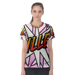 Comic Book Fille! Women s Sport Mesh Tees