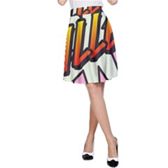 Comic Book Fille! A Line Skirts
