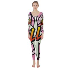 Comic Book Fille! Long Sleeve Catsuit