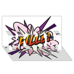 Comic Book Fille! Mom 3d Greeting Card (8x4)