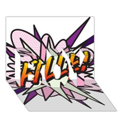 Comic Book Fille! BOY 3D Greeting Card (7x5)