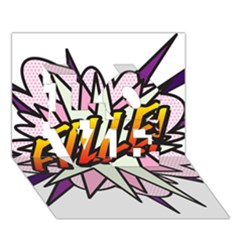 Comic Book Fille! LOVE 3D Greeting Card (7x5)