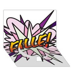 Comic Book Fille! Circle Bottom 3D Greeting Card (7x5)
