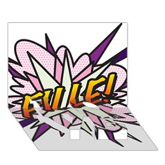 Comic Book Fille! LOVE Bottom 3D Greeting Card (7x5)