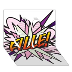 Comic Book Fille! Clover 3D Greeting Card (7x5)
