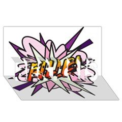 Comic Book Fille! BEST SIS 3D Greeting Card (8x4)