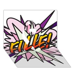 Comic Book Fille! Ribbon 3D Greeting Card (7x5)