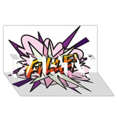 Comic Book Fille! PARTY 3D Greeting Card (8x4)
