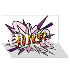 Comic Book Fille! HUGS 3D Greeting Card (8x4)