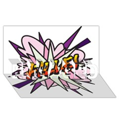Comic Book Fille! Engaged 3d Greeting Card (8x4)